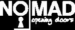 Nomad Opening Doors white logo